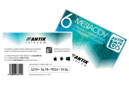 ANTIK TV GO voucher 6 mesiace mobilná televízia