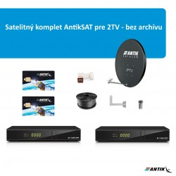 Satelitný komplet AntikSAT pre 2TV - bez archívu