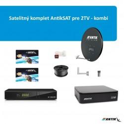 Satelitný komplet AntikSAT pre 2TV - kombi