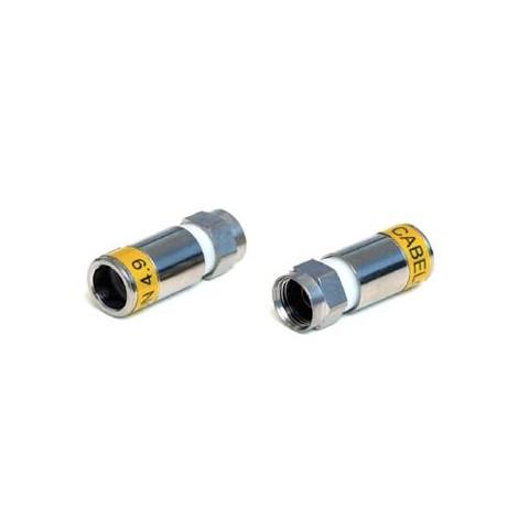 Kompresný F konektor CABELCON F-56-CX3 4.9 pre profesionálne použitie.  (tlakový F-konektor pre dielektrikum 4,9 mm)