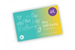 4KA SIM karta s kreditom 4 Eur (hlas + dáta)
