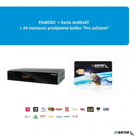 FlixBox2 + karta AntikSAT + 24 mesiacov balík Pre začiatok