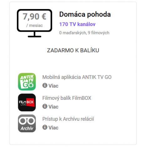 ANTIK SAT BALÍK Domáca pohoda / 1 mesiac
