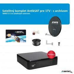 Satelitný komplet AntikSAT NANO3 pre 1TV - s archívom