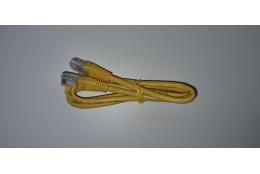 UTP patch kábel, Cat5, 0.5m, žltý